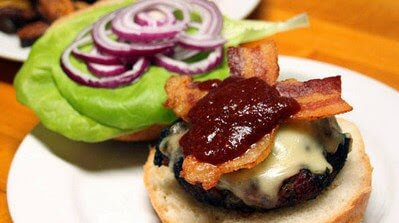 Burger Sample: Tex-Mex Bacon Cheeseburgers with Chipotle Ketchup photo