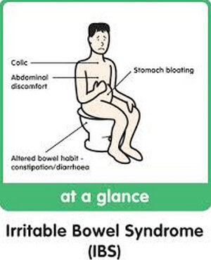 Components of irritable bowel syndrome picture