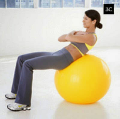 Ball Curl using a Stability Ball picture