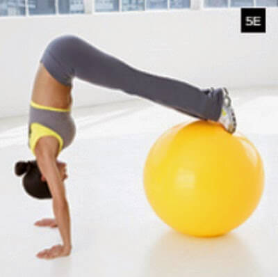 Pike using a Stability Ball picture