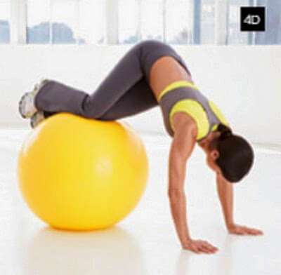 Skier on Stability Ball image