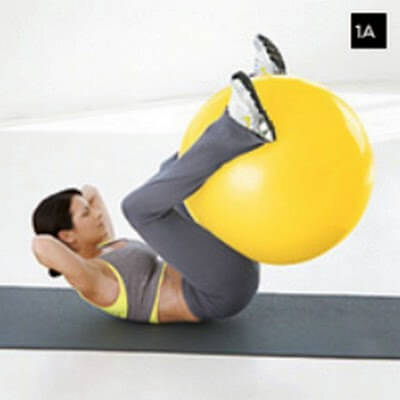 Reverse Crunch using a Stability Ball photo